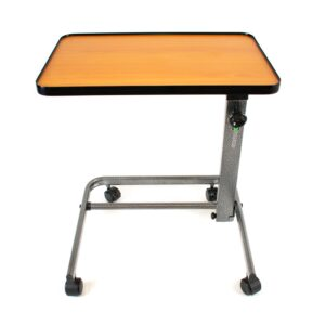 Comfort Easy Action Foldable Overbed Table Laying Flat