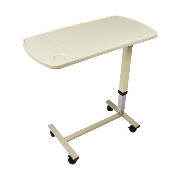 Hydraulic Lift Overbed Table Side View