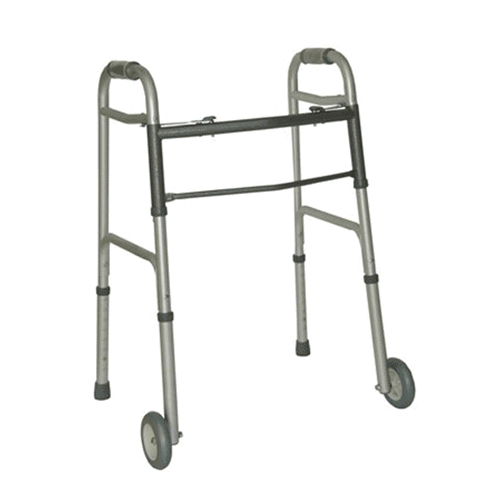 Aidacare Bariatric Walker Walking Frame with Zimmer Wheels