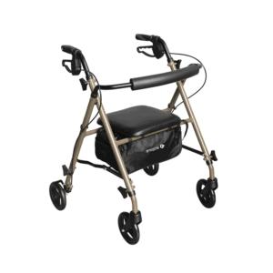 Aspire Superlite Adjustable Seat Walker - Folded