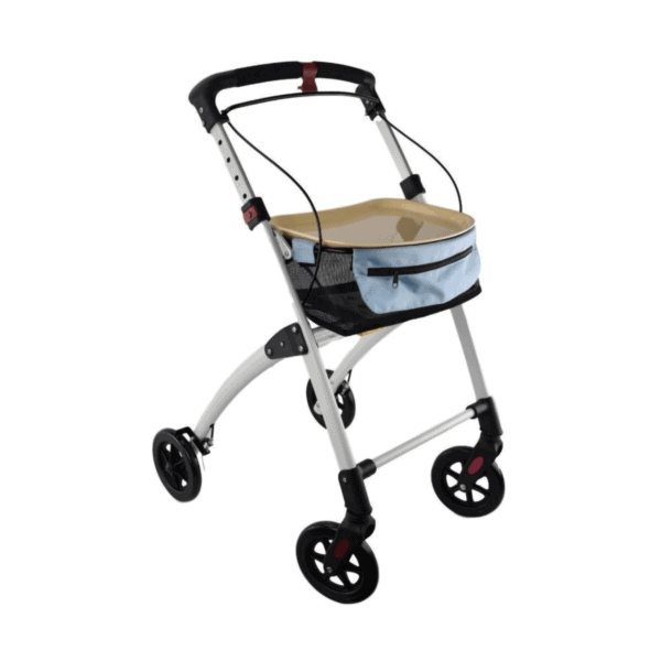 Days Breeze Indoor Rollator - Meal Tray Walker with Bag