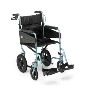 Days Escape Transit Wheelchair Attendant Propelled Silver Blue