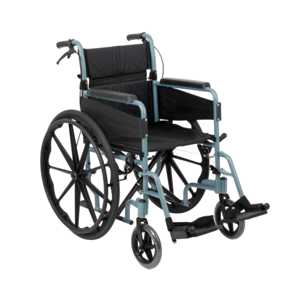 Days Escape Wheelchair Self Propelled Silver Blue