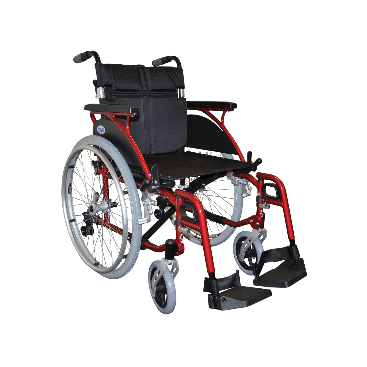 Days Premium Link Wheelchair Self-propelled 16, 18, 20 And 22 – Red