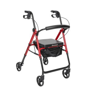 Freedom Walker With Adjustable Seat Height - Red 2
