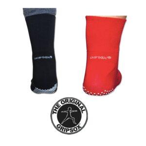 Medical GripSox Non Slip Red Black