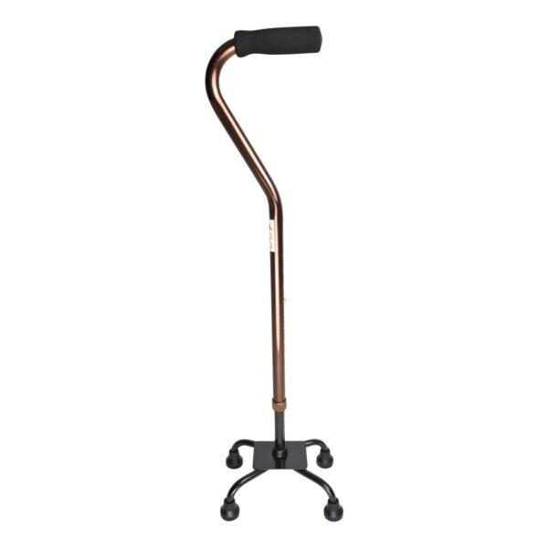 PE Care Bronze Quad Cane Side iew