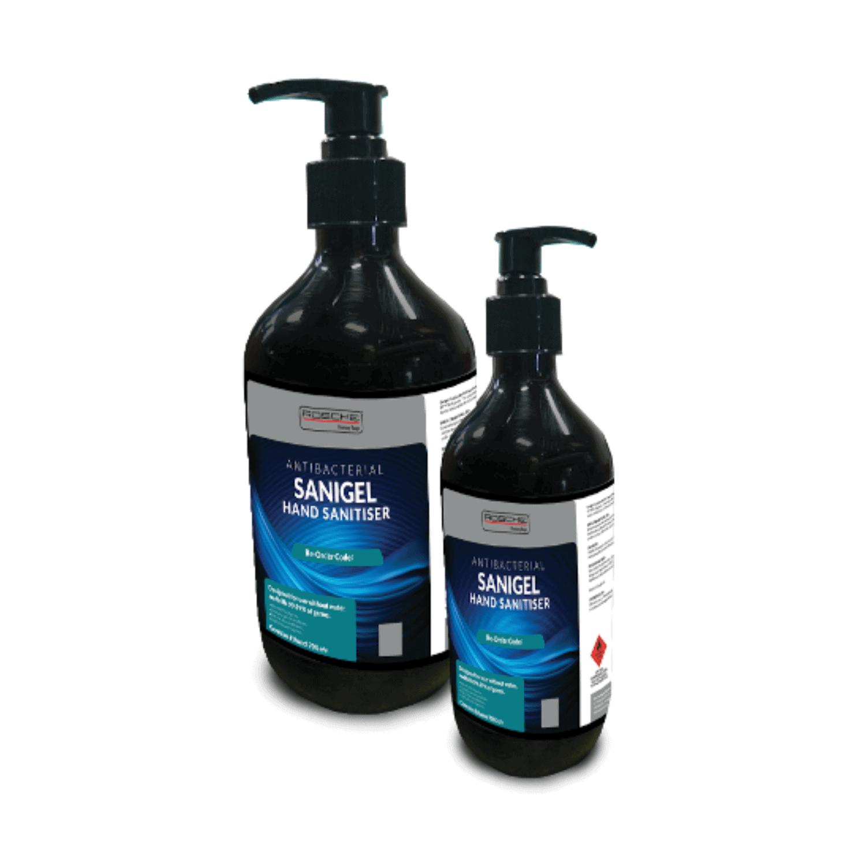 Rosche Sanigel Hand Sanitiser – 500ml & 1Ltr Pump