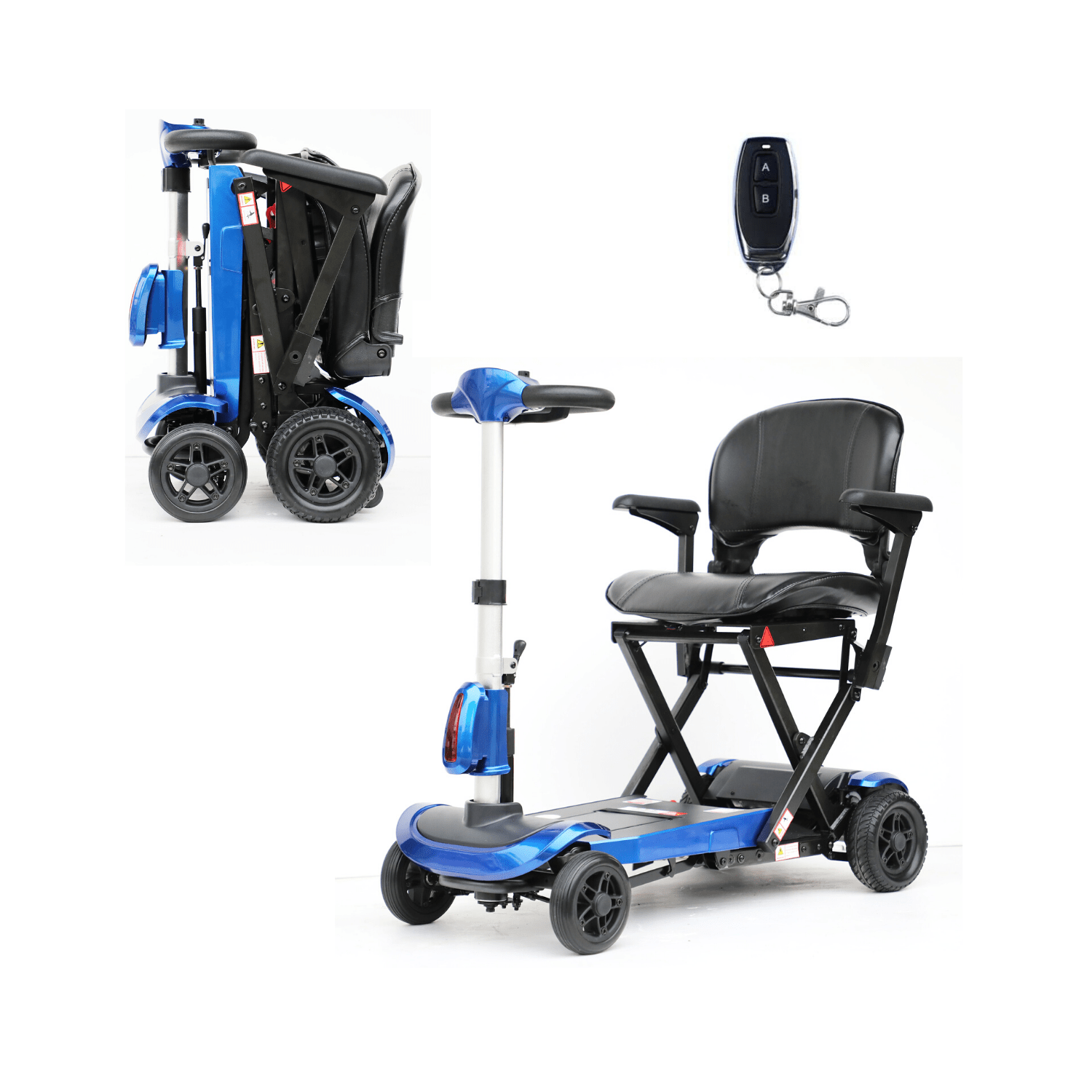 Solax Genie Plus Mobility Scooter with Automatic Folding Blue