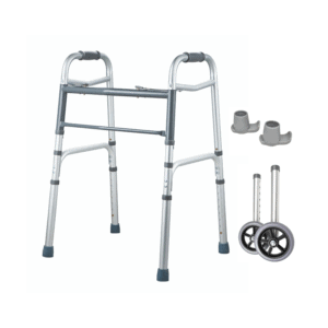 Aspire Walking Frame with Zimmer Wheels and Skis