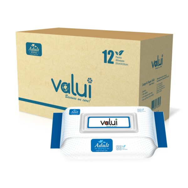Valui Extra Large Adult Wipes