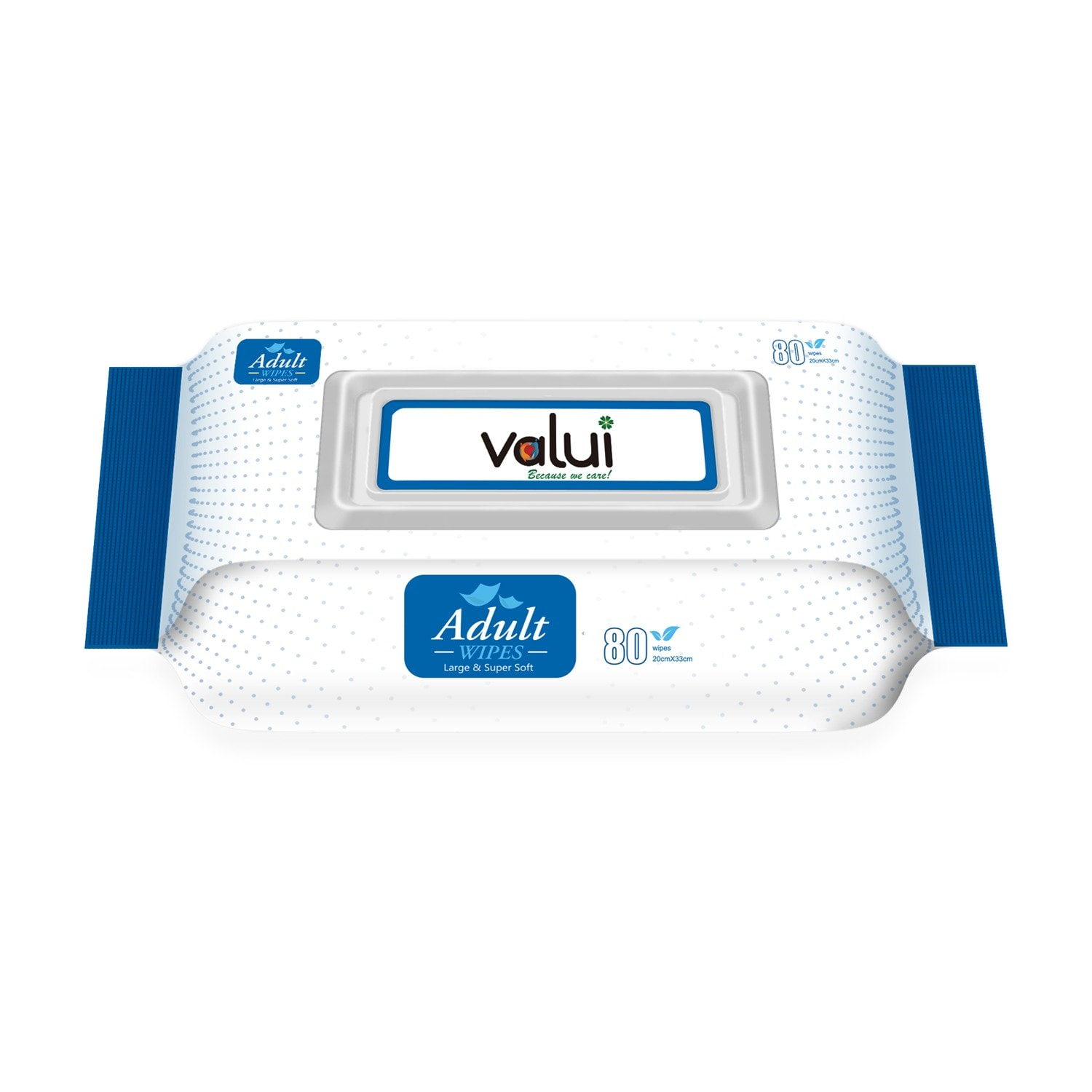 Valui Adult Extra Large Wipes 80 Pack