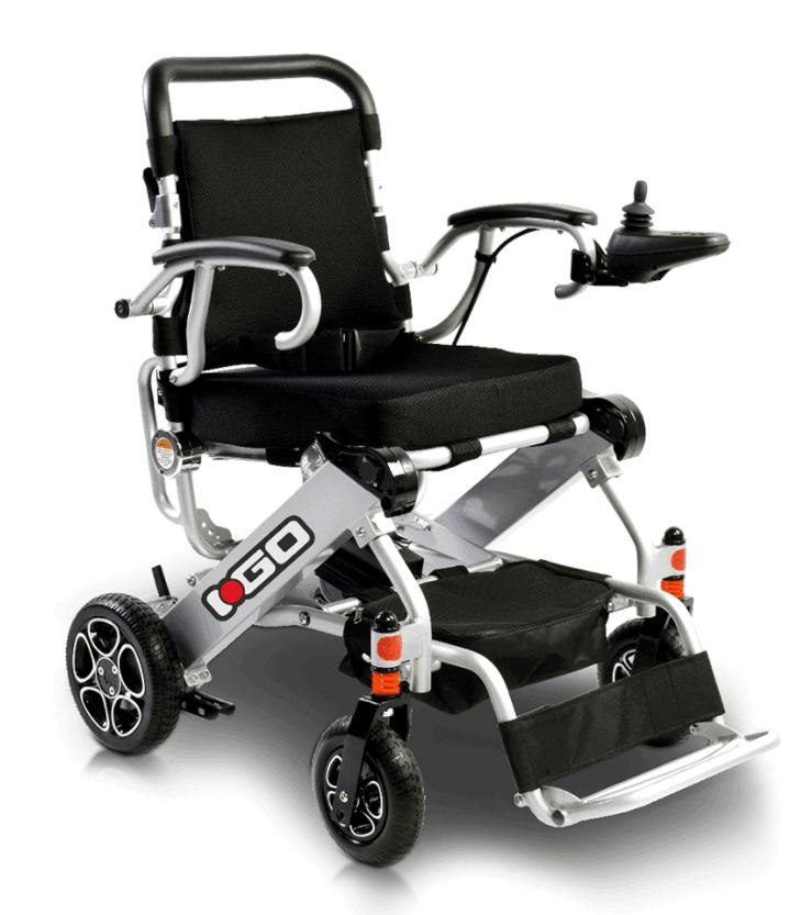 iGo Folding Power Wheelchair Side