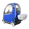 Shoprider Rainrider Mobility Scooter Blue with Rear Case