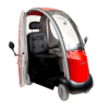 Shoprider Rainrider Mobility Scooter Red with Removable Doors