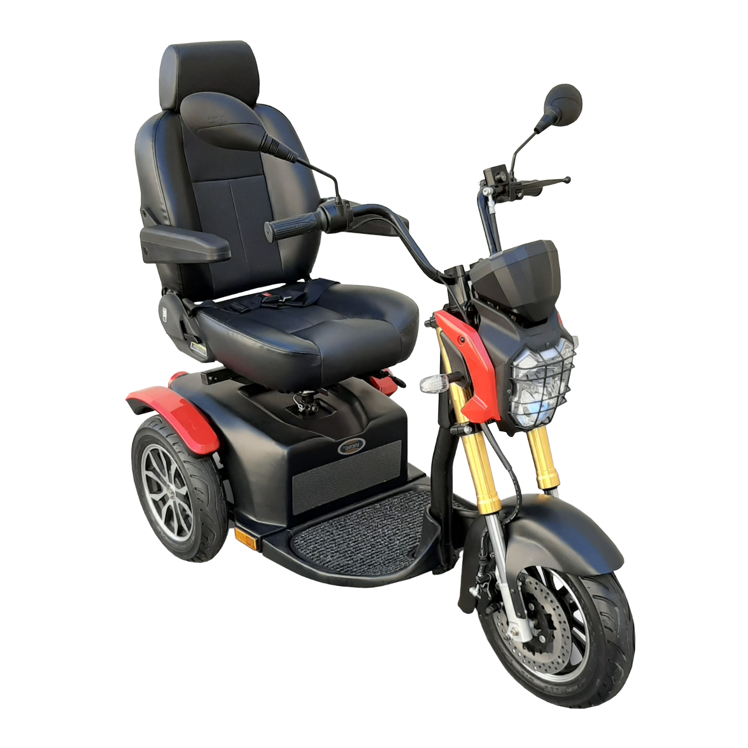 Shoprider Viking Three Wheel Mobility Scooter – Red